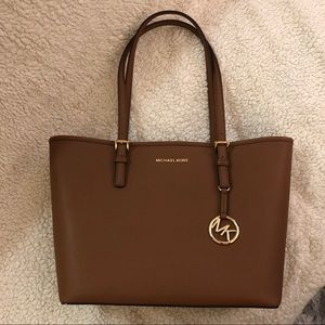 Authentic Michael Kors Saffiano Luggage Brown